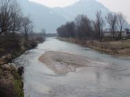 Costa Volpino Il fiume Oglio Immissario del Sebino