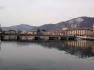 Paratico e Sarnico Il ponte sul Fiume Oglio emissario del Lago D'Iseo