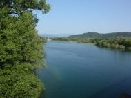 Fiume Ticino esce dal Lago Maggiore
