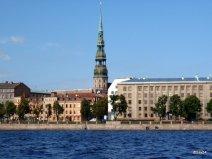 Veduta di Riga dal canale