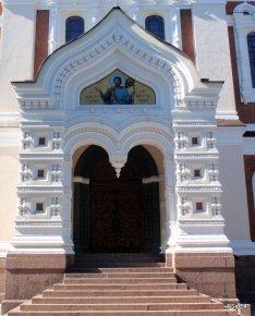 Tallin entrata frontale della cattedrale