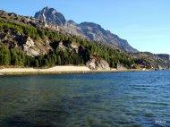 Lago di Sils Piz La Grev Engadina