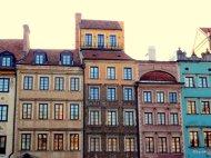 Varsavia Piazza della Città Vecchia, centro storico, un patrimonio mondiale dell'UNESCO