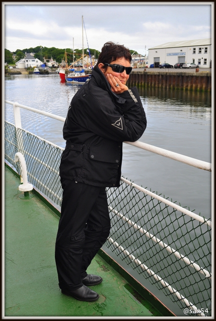 Il traghetto che ci porta in Irlanda Del Nord a Magilligan Point