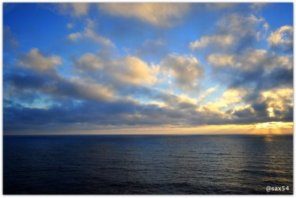 Il tramonto sull'Oceano Atlantico