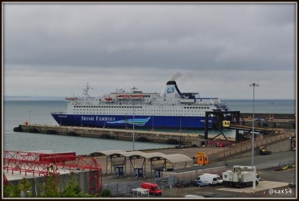 L'arrivo della nostra nave in porto a Rosslere